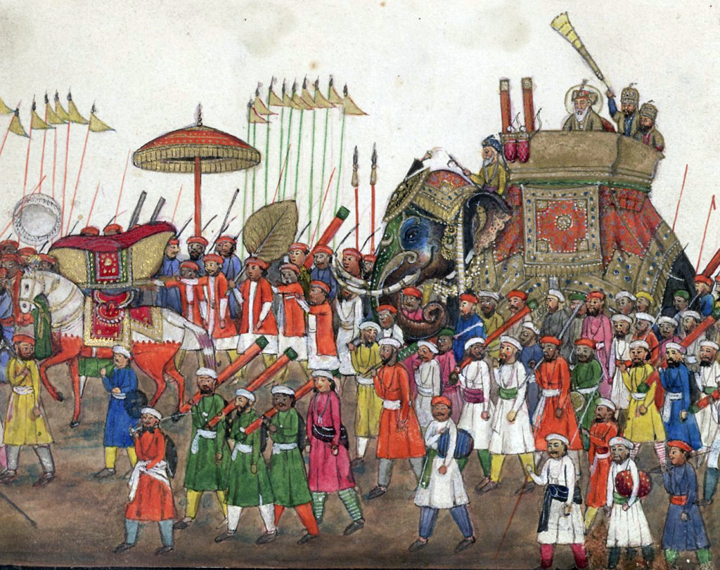 Şemsiye tarih boyunca bazı devletlerde hakimiyet sembolü olarak kullanıldı. Bunlardan biri de Moğollardı. Aşağıdaki resimde bir festival sırasında alayın en önünde Moğol hükümdarının şemsiyesini taşıyan görevli görülüyor.