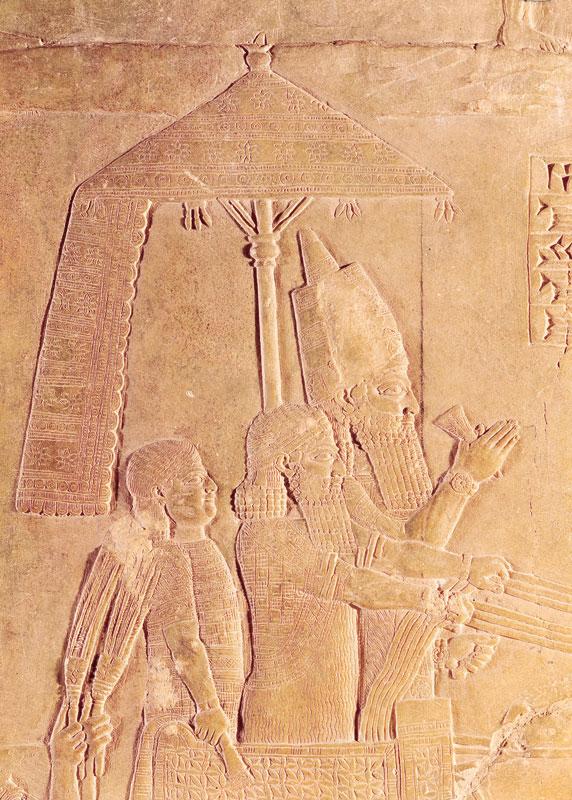 Pers kralları da şemsiyeyi bir hakimiyet sembolü olarak kullanıyorlardı.