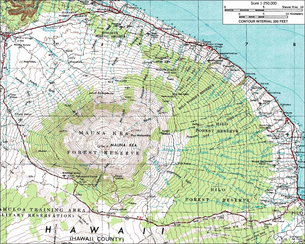 USGS GeoTIFF DRG 1:250000 Quad of Hawaii. Product:481836